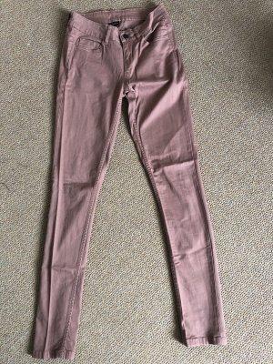 Pieces Pantalone a sigaretta color oro rosa