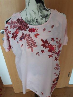 rosefarbenes Tshirt mit Cut-outs