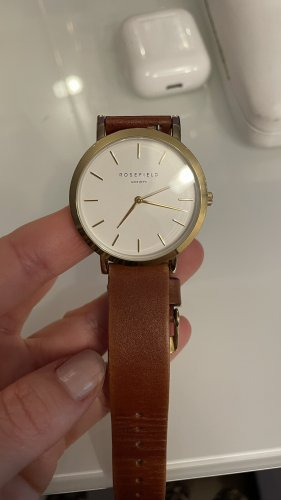 ROSEFIELD Watch With Leather Strap gold-colored-light brown