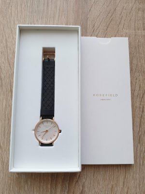 ROSEFIELD Watch With Leather Strap black-rose-gold-coloured