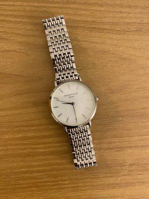 ROSEFIELD Reloj con pulsera metálica color plata-blanco
