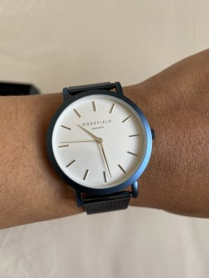 ROSEFIELD Watch With Metal Strap dark blue