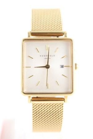 ROSEFIELD Uhr mit Metallband goldfarben Business-Look