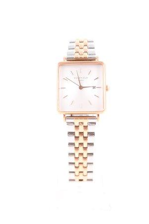 ROSEFIELD Uhr mit Metallband silberfarben-goldfarben Business-Look