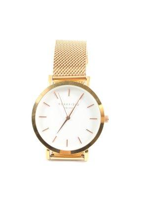 ROSEFIELD Orologio con cinturino di metallo oro stile professionale