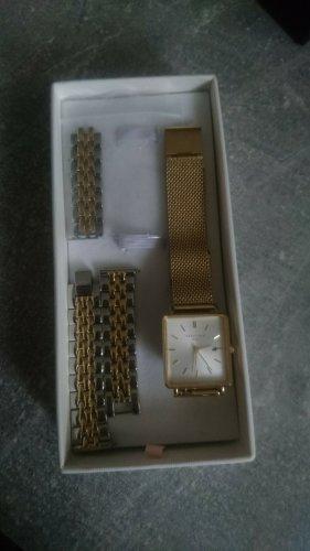 ROSEFIELD Zegarek z metalowym paskiem srebrny-złoto