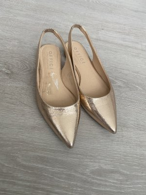 Office London Slingback Ballerinas rose-gold-coloured