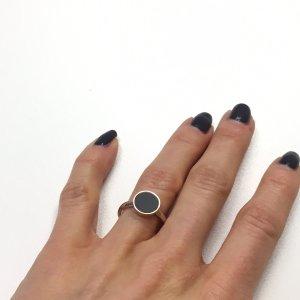 Gold Ring black-rose-gold-coloured