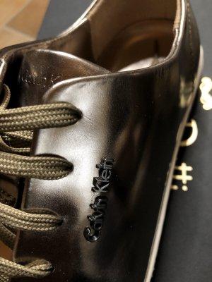 Roségold glänzende Calvin Klein CK Gr. 37 sneaker Schuhe Blogger