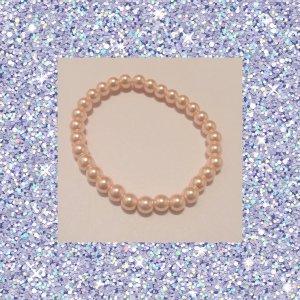 100% Fashion Bransoletki z perłami różany