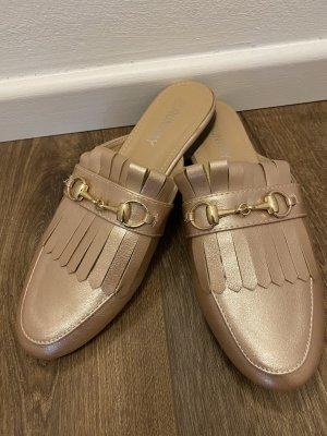 Pantofola color oro rosa