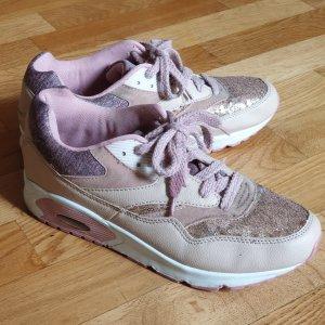 Roségold Sneakers mit Pailletten
