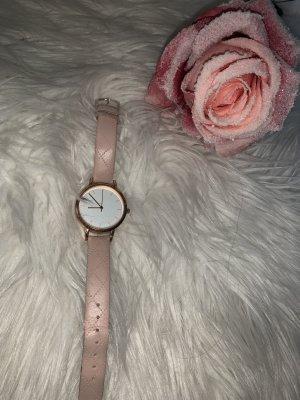 Primark Orologio con cinturino di pelle rosa pallido