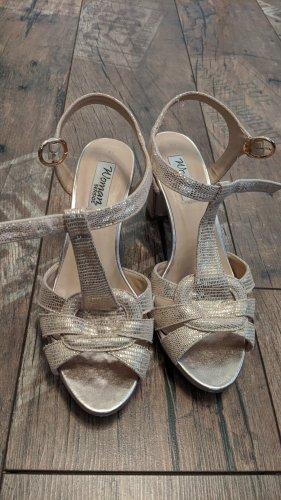 Rosegoldene Sandaletten