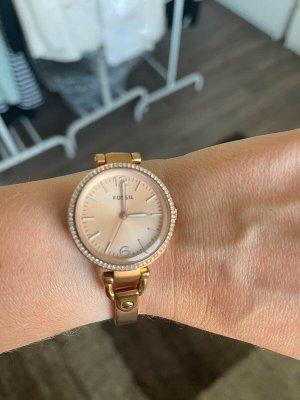 Rosegoldene Uhr / Armbanduhr von Fossil
