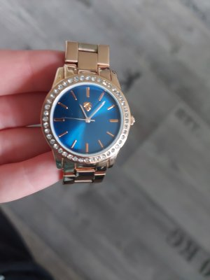 Watch With Metal Strap rose-gold-coloured-blue