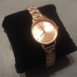 Olivia Burton Watch With Metal Strap rose-gold-coloured metal