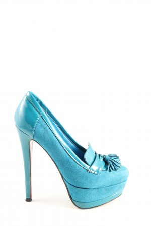 Roselight Plateau-Pumps blau Casual-Look