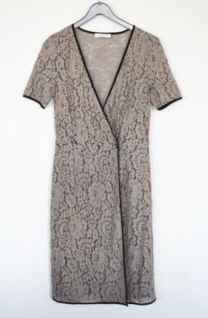 Rosemunde Copenhagen Kleid Stretch Spitze Spitzenkleid Überkleid XS S Taupe