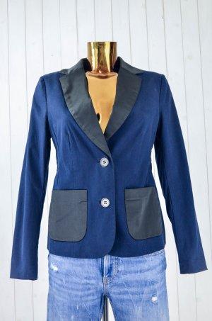 ROSEMUNDE Damen Blazer Jacke Einreiher Baumwolle Elastan Blau Schwarz Gr.36-38