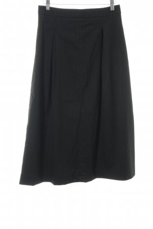 Rosemunde Midirock schwarz-silberfarben Nadelstreifen Business-Look