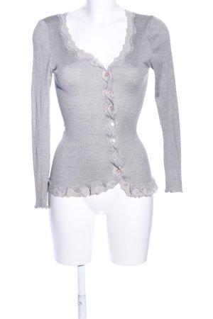 Rosemunde Shirt Jacket light grey flecked casual look