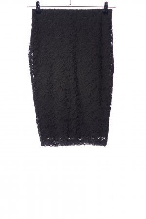 Rosemunde Falda de encaje negro estilo «business»