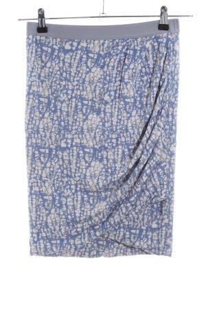 Rosemunde Stretchrock blau-hellgrau abstraktes Muster Casual-Look