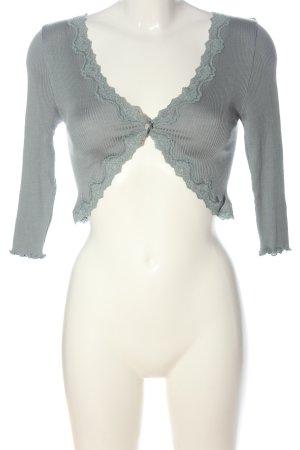 Rosemunde Boléro en tricot gris clair style décontracté