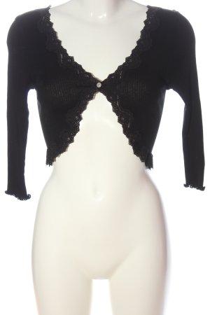 Rosemunde Boléro en tricot noir style décontracté