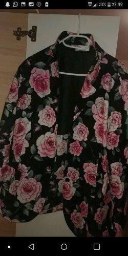Unisex blazer zwart-rosé