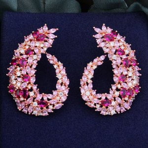 Gold Earring multicolored