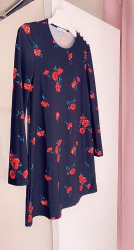 Mango Sukienka z dżerseju czarny-czerwony
