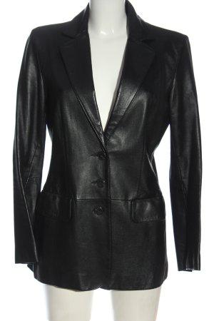 Rosenberg & Lenhart Blazer in pelle nero stile casual