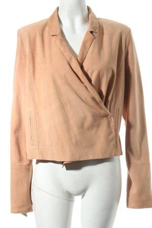 Rosenberg & Lenhart Veste en cuir vieux rose style simple