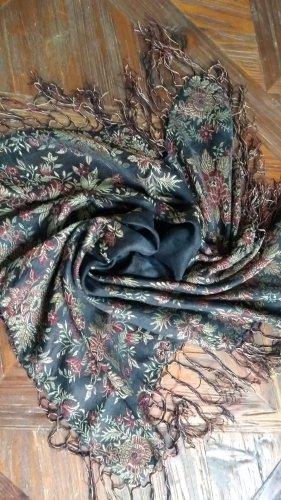 Sciarpa tradizionale nero-rosa