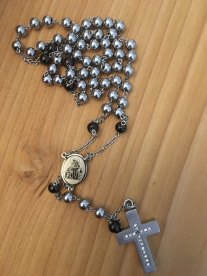 Bijou Brigitte Collar de perlas gris claro-negro