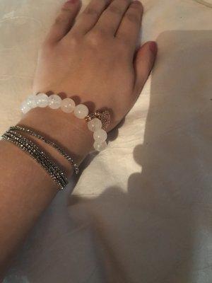 Bracelet en perles or rose-rosé