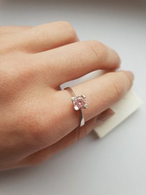 Silver Ring silver-colored-pink