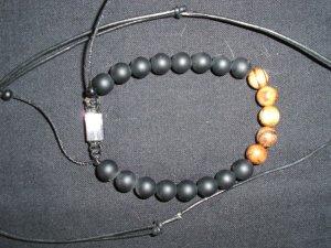 Armband zwart-bruin