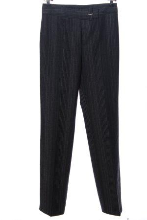 Rosner Pantalone da abito nero-grigio chiaro motivo a righe stile professionale