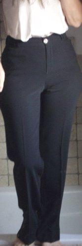 Rosner Conny_01, elegante wunderschöne Hose, feiner, edler Stoff, schwarz, 92% Polyester, 8% Polyurethan, angenehm weich und leicht, gerader Schnitt, hoher Bund, bis in die Taille, sehr schmale Taille, neuwertig, Boutique, Gr. 36