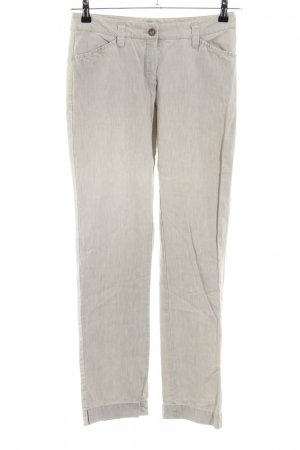 Rosner High-Waist Hose wollweiß meliert Casual-Look