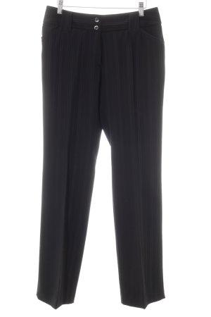 Rosner High-Waist Hose schwarz-grau Nadelstreifen Dandy-Look
