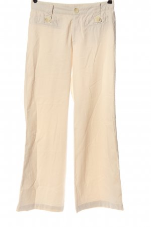 Rosner Low-Rise Trousers cream casual look