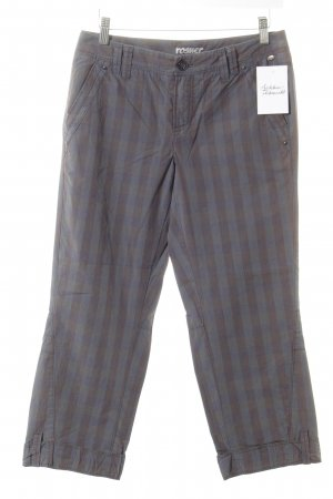 Rosner Low-Rise Trousers grey-grey brown check pattern casual look