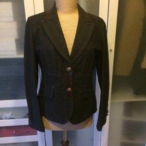 Rosner Jeans Blazer Gr. 38 mit Lederdetails top Zustand