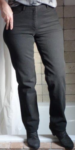 Rosner Jeans, dunkelbraun, weicher Denim Baumwolle mit Elasthane, Type: Audrey2_0001, 5 Pocket, hoher Bund, gerades Bein, sehr bequem 7% Elasthane, Boutique, hoher NP, hochwertige Qualität, TOP Zustand, Gr. 38