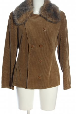 Rosner Fake Fur Jacket brown casual look