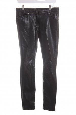 Rosner Leather Trousers black-silver-colored